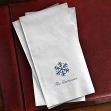 Prentiss Guest Towels - Snowflake Design