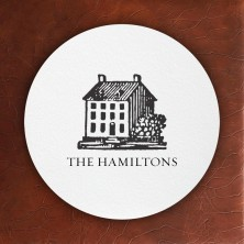 Prentiss Letterpress Coasters- House Design