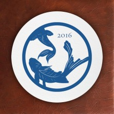 Prentiss Letterpress Coasters- Koi Design