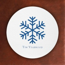 Prentiss Letterpress Coasters- Snowflake Design