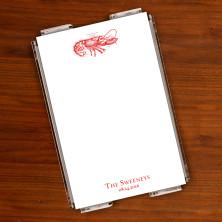 Prentiss Memo Set - Lobster Design