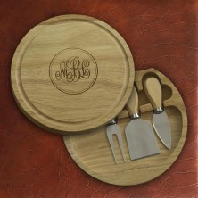 Round Pocket Cutting Board - with Monogram
