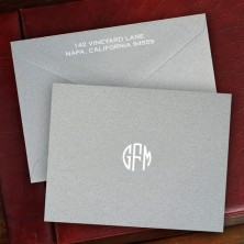 Steel Gray Notes with Monogram