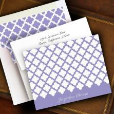 Victorian Lattice Stationery - Fold Notes