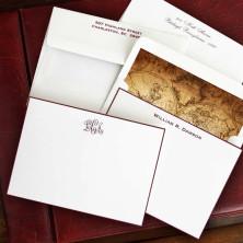 Worldly Wine Hand Bordered Correspondence Cards