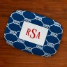Boatman Geller Designer Platter - Nautical Knot Navy