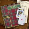 Caspari® Bridge Set - Red Plaid