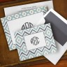 Ikat Soft Teal Ensemble by Boatman Geller - with Monogram
