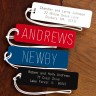 Bold Engraved Luggage Tags