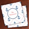 Merrimade Designer Paper Coasters - Stitched Anchors