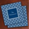 Merrimade Designer Paper Coasters - Navy Keystone