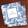 Merrimade Designer Paper Coasters - Navy Toile