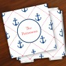 Merrimade Designer Paper Coasters w/Holder - Stictched Anchors