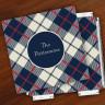 Merrimade Designer Paper Coasters w/Holder - Plaid
