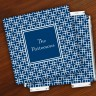 Merrimade Designer Paper Coasters w/Holder - Navy Keystone