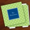 Merrimade Designer Paper Coasters w/Holder - Lime Keystone
