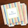 Merrimade Designer Paper Coasters w/Holder - Beach Stripes