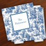 Merrimade Designer Paper Coasters w/Holder - Navy Toile