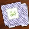 Merrimade Designer Paper Coasters w/Holder - with Monogram - Victorian Lattice