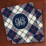 Merrimade Designer Paper Coasters - with Monogram - Plaid