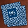 Merrimade Designer Paper Coasters - with Monogram - Navy Keystone