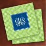 Merrimade Designer Paper Coasters - with Monogram - Lime Keystone