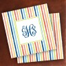 Merrimade Designer Paper Coasters - with Monogram - Beach Stripes