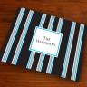 Merrimade Designer Paper Placemats - Black Bold Stripe