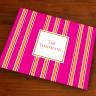 Merrimade Designer Paper Placemats - Pink Bold Stripe