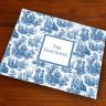 Merrimade Designer Paper Placemats - Navy Toile
