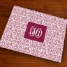 Merrimade Designer Paper Placemats - with Monogram - Wine Floral