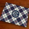 Merrimade Designer Paper Placemats - with Monogram - Plaid