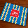Merrimade Designer Paper Placemats - with Monogram - Navy Bold Stripe