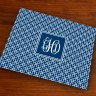Merrimade Designer Paper Placemats - with Monogram - Navy Keystone