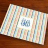 Merrimade Designer Paper Placemats - with Monogram - Beach Stripes