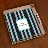 Merrimade Small Serving Tray - Black Bold Stripe