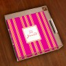 Merrimade Small Serving Tray - Pink Bold Stripe