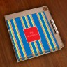 Merrimade Small Serving Tray - Navy Bold Stripe