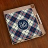Merrimade Small Serving Tray - with Monogram - Plaid